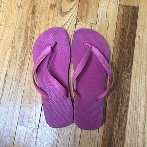 Hot Pink Havaianas Size 10